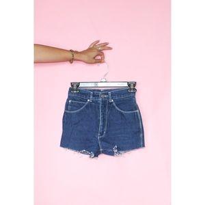 (528) VTG Mini High Waisted Cutoff Shorts